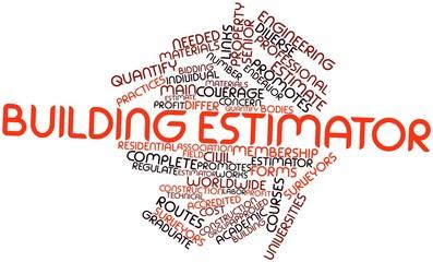 Word cloud for Building estimator