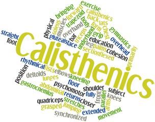 Word cloud for Calisthenics