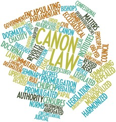 Word cloud for Canon law