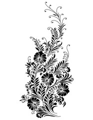Vector - Abstract black floral vine
