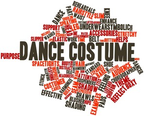 Word cloud for Dance costume