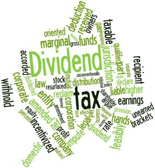 Word cloud for Dividend tax