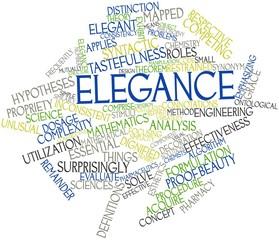 Word cloud for Elegance