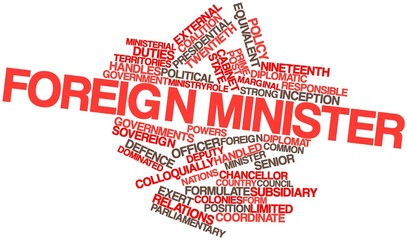 Word cloud for Foreign minister