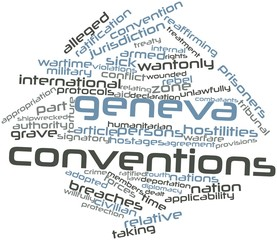 Word cloud for Geneva Conventions