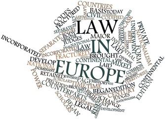 Word cloud for Law in Europe