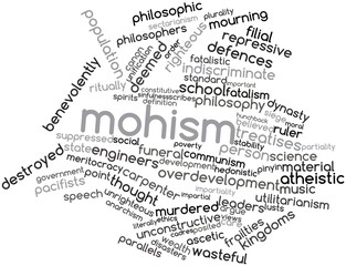 Word cloud for Mohism