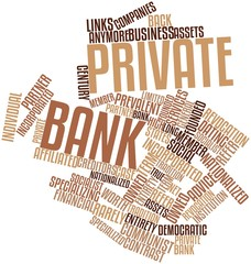 Word cloud for Private bank