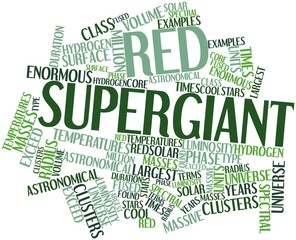 Word cloud for Red supergiant