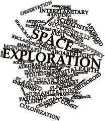 Word cloud for Space exploration