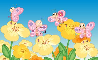 Zelfklevend Fotobehang Vlinders Butterflies