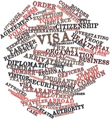 Word cloud for Visa
