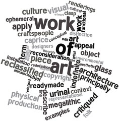 Word cloud for Work of art