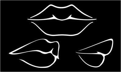 Hot Sensual Mouth, vector