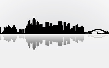 City Manhattan panorama, vector