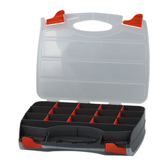 Plastic box for tools, nails and screws