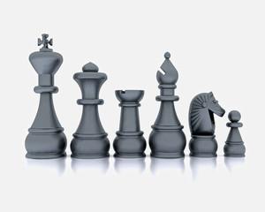 Chess chrome effect - 3D