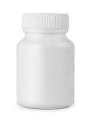 White plastic medicine bottle