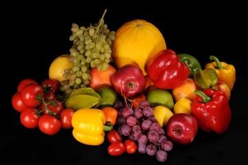 Kompozycja owoców i warzyw