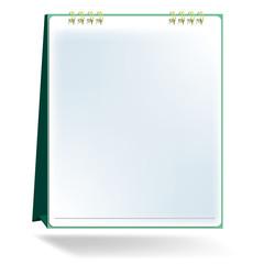 blank desktop calendar vector