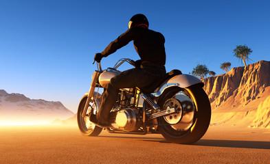 Keuken foto achterwand Motorfiets Motorcyclist