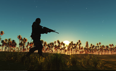 Foto op Canvas Militair Soldier