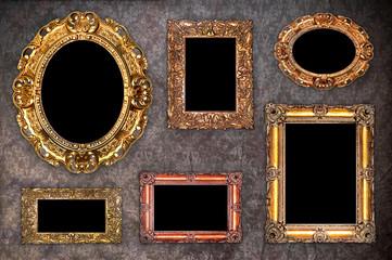 set of antique frames