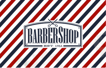 Vintage, Old Fashion styled Barber Shop