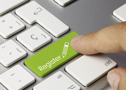 Register keyboard key. Finger