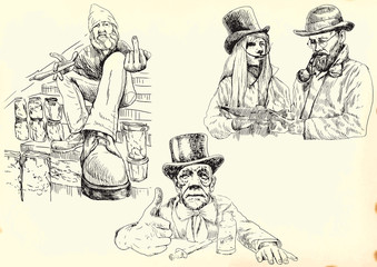 Freaks (chemical vendors happiness) - hand drawings collection