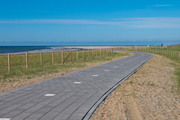 Wall Mural - Paved Cycling Track  in Dunes