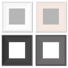 collection of simple photo frames