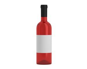 Weinflasche rose mit Etikett