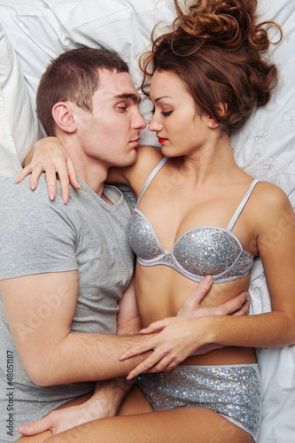 Sexy love in bedroom
