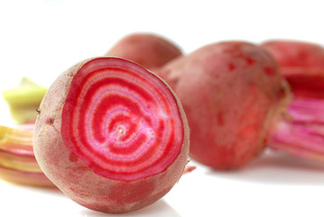 Candy striped beets