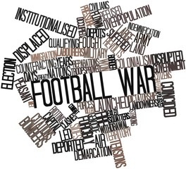 Word cloud for Football War