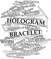 Word cloud for Hologram bracelet