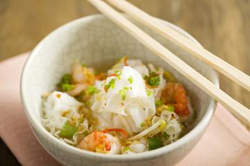 Thai Noodle Soup with shrimp