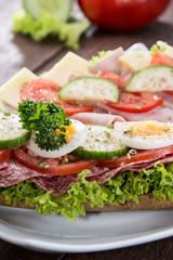 Fresh made Salami Sandwich