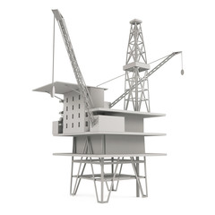 Heavy wharf crane isolated