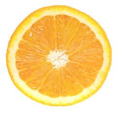 Fresh oranges isolated on white background