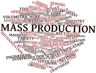 Word cloud for Mass production