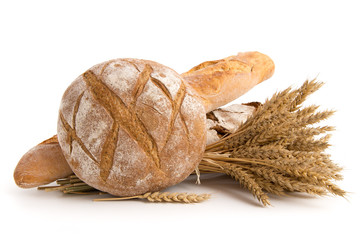 Brote und Weizenähren
