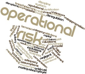 Word cloud for Operational risk