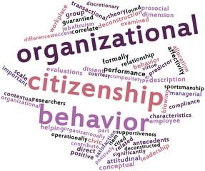 Word cloud for Organizational citizenship behavior