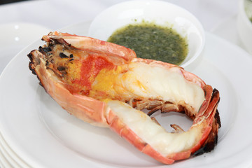 grill giant fresh water prawn