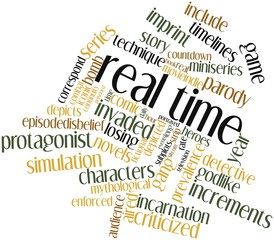 Word cloud for Real time