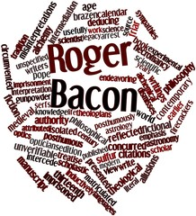 Word cloud for Roger Bacon