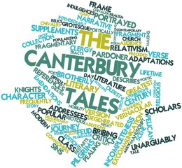 Word cloud for The Canterbury Tales