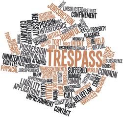 Word cloud for Trespass